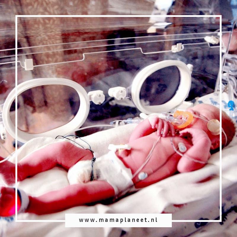 prematuur baby in incubator