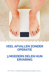 voeten op weegschaal tijdens afvallen zonder operatie