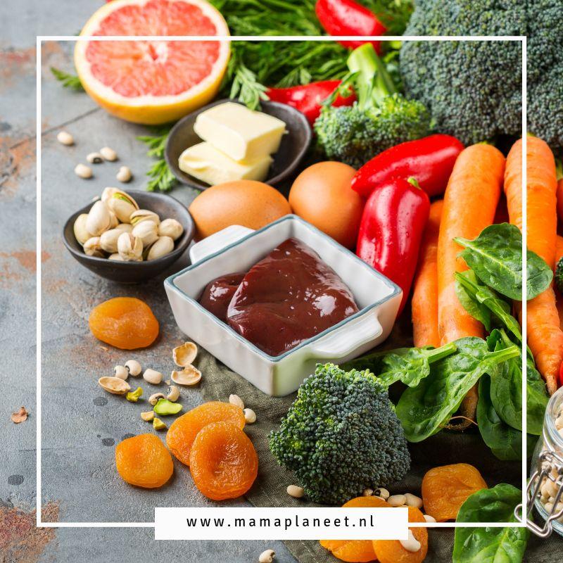ijzerrijke voeding recepten bij bloedarmoede MamaPlaneet.nl