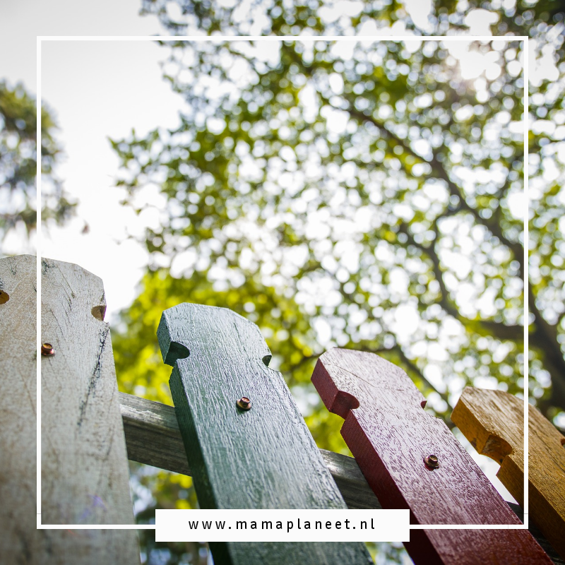 houten schutting - hek