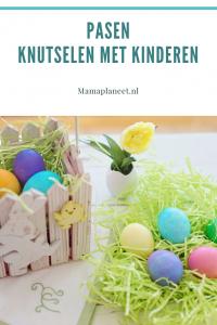 Paasmand knutselen en eieren verven voor Pasen