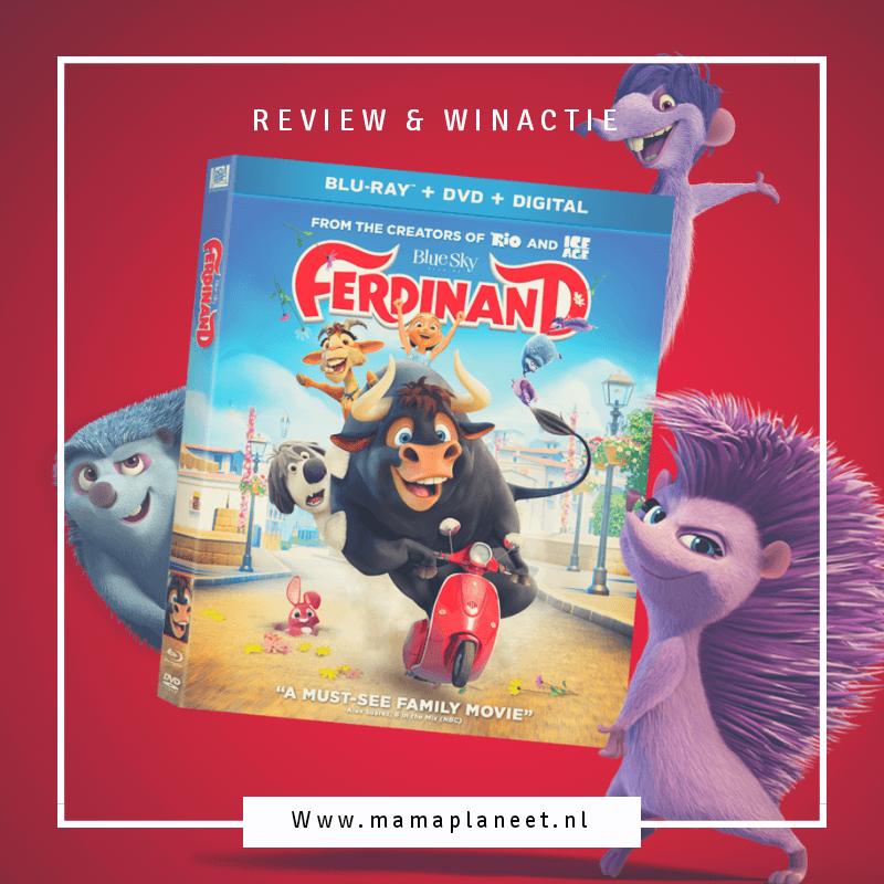 dvd van Ferdinand wordt vastgehouden door de egels uit de familiefilm