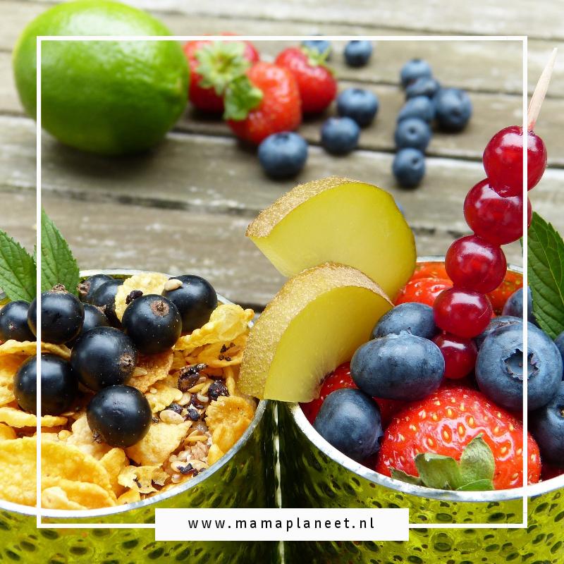 gevarieerd fruit in de glutenvrije recepten