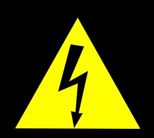 hoogspanning gevaar waarschuwingsbord