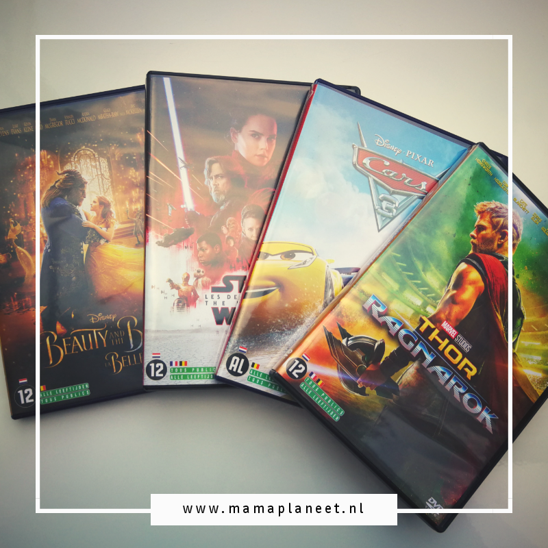 dvd Thor, Beauty en het beest, Cars 3 en Star Wars