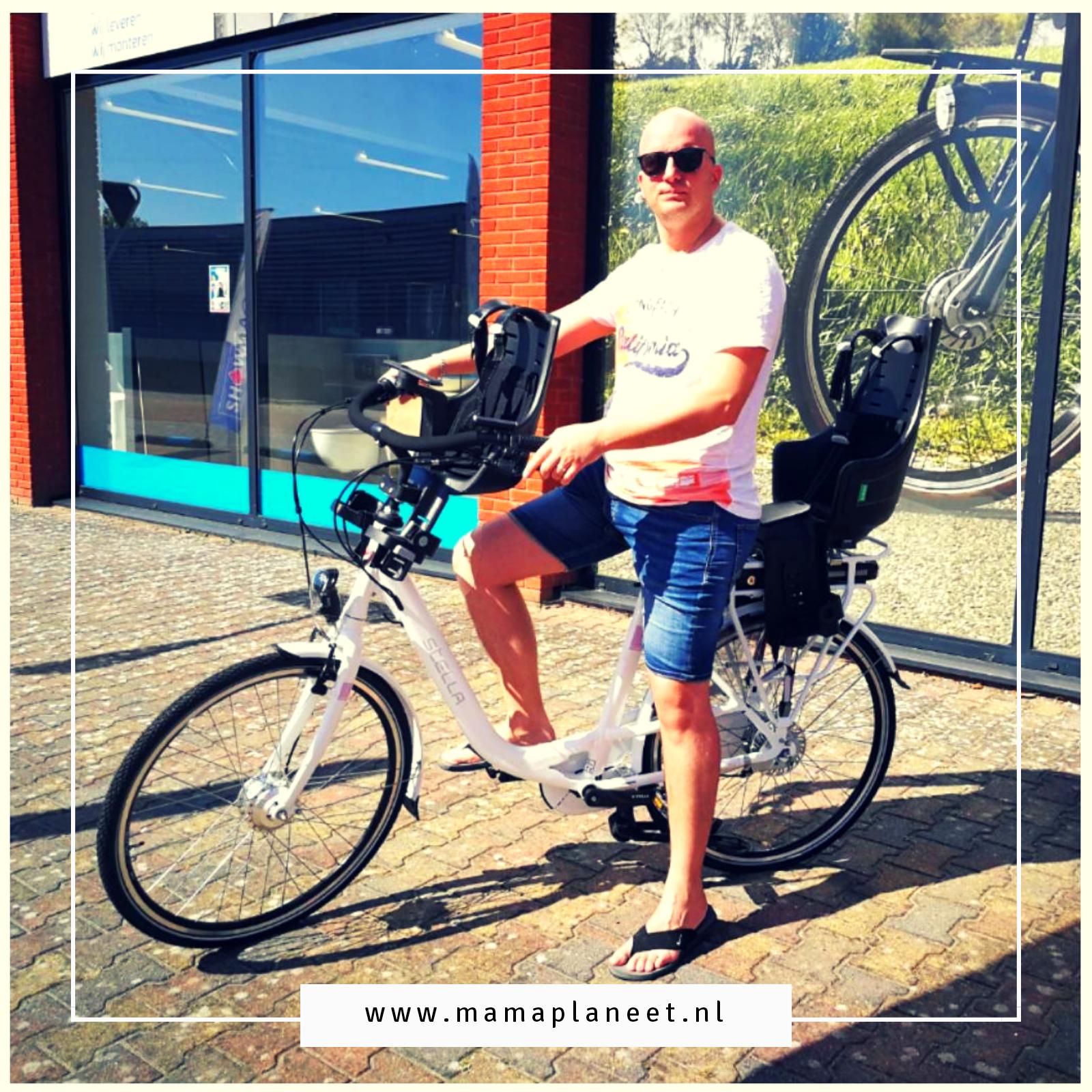 papa op stella fiets