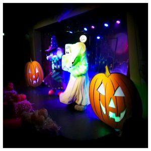 de grote spookshow met jul en julia, meneer kaasschaaf en mevrouw suikerspin