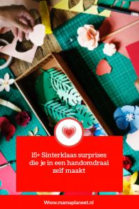 Sinterklaas surprise zelf maken met materiaal in en om het huis
