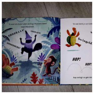 binnenkant kinderboek een kusje voor krokodil van Leopold