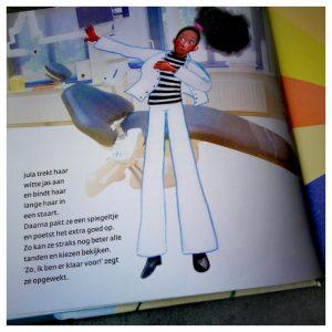 tandarts uit het kinderboek Weg met de viezekiezenbeestjes
