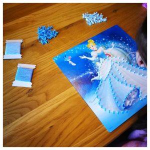 String Art Kit voor kinderen : Disney prinsessen Assepoester & Belle