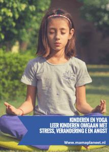 kind en yoga : kind aan het mediteren