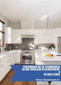 schoonmaken met stoomreiniger in de keuken, badkamer en meer