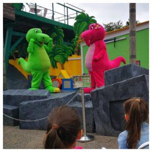Dino & Dina's bouwspel tijdens de Jul & Julia Zomerweken bij Kinderpretpark Julianatoren Apeldoorn