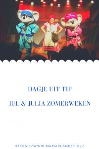 Reis om de wereld show van Jul & Julia en mevrouw Suikerspin bij Kinderpretpark Julianatoren Apeldoorn