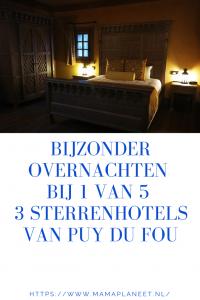 Puy du Fou hote hotelkamer van La Citadelle kasteel bijzonder overnachten