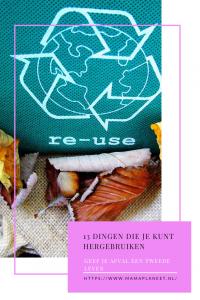 hergebruik stimuleren re-use afval een tweede leven geven