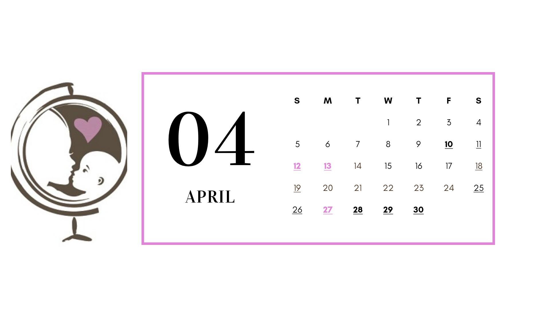 reizen met schoolgaande kinderen kalender april 2020l