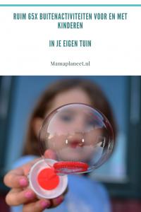 Activiteiten voor kinderen die buitenspelen in eigen tuin of balkon MamaPlaneet.nl