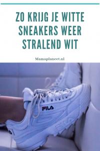 Witte schoenen wit houten