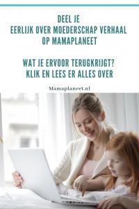 moeder en kind samen achter laptop