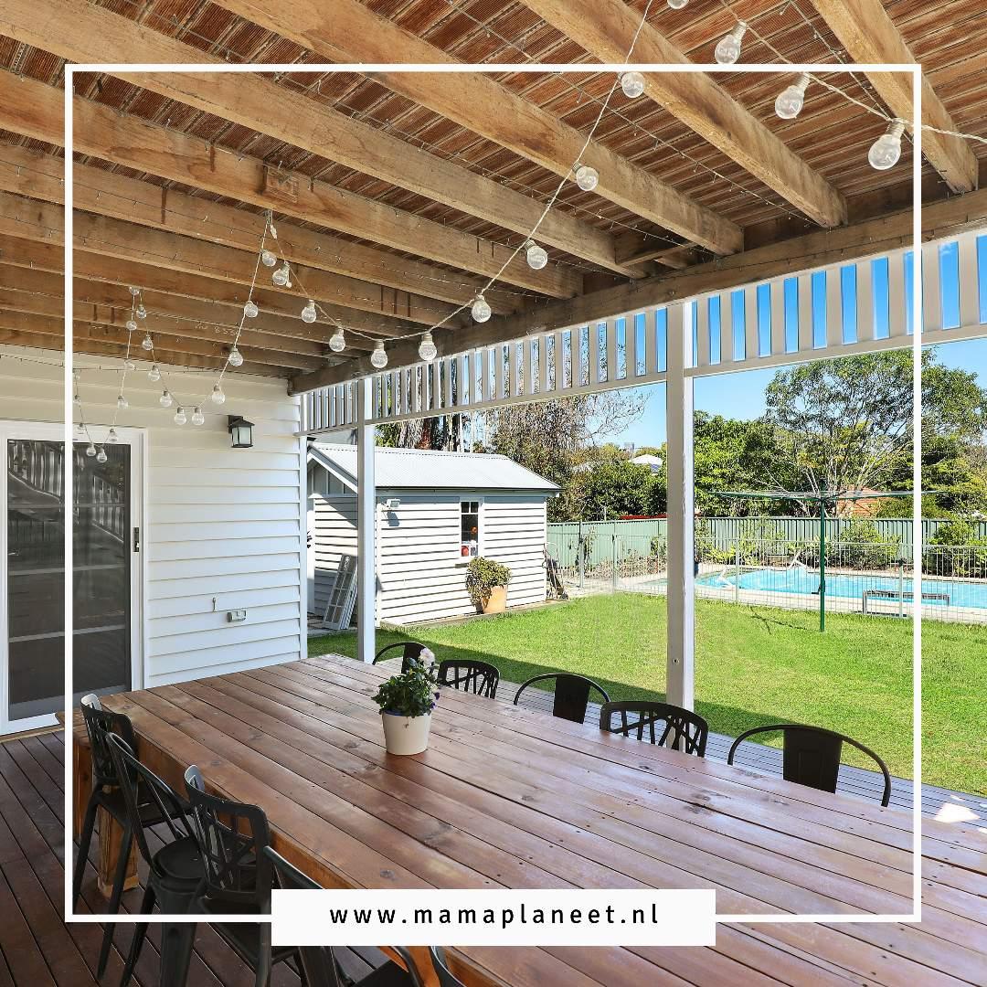Overkapping of veranda in de tuin MamaPlaneet.nl