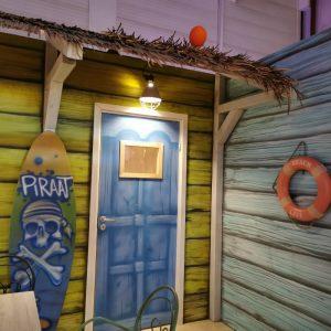 kinderfeestje in thema piraat klimmuur Climb-In met trampolinepark Jump-In en binnenspeeltuin voor peuters, kleuters, kinderen en tieners met ouders in Play-In The Wall Utrecht