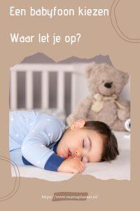 Babyfoon kiezen tips mamaplaneet.nl