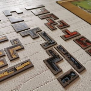 Tetris blokjes of polyomino's van My City bordspel legacy game van 999 Games review MamaPlaneet.nl