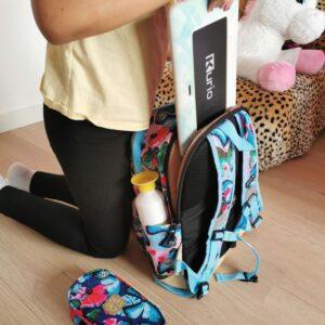 Pick Pack rugzak school met aparte vak voor laptop of tablet en flesshouders back to school in stijl tips mamaplaneet.nl